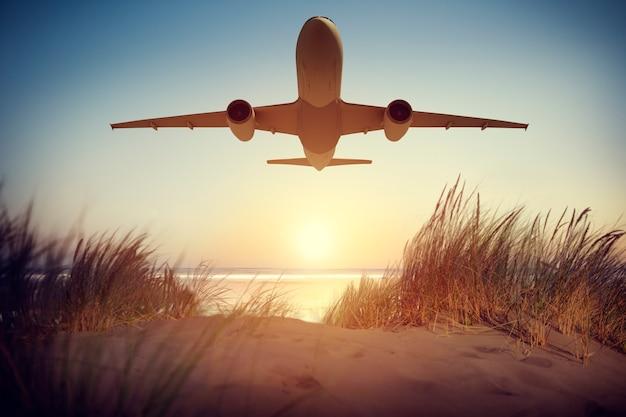 Illustrazione di un aereo in volo Foto Gratuite