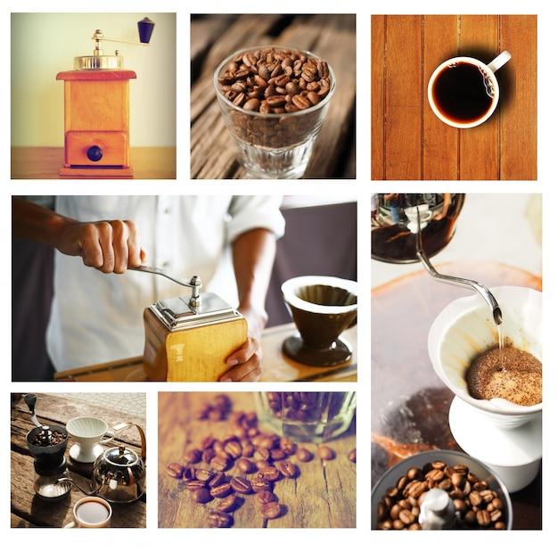 Immagini di tazze di caffè disposti in una scatola Foto Gratuite