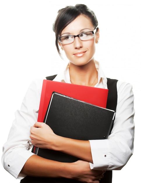 Imprenditrice occupata Foto Premium