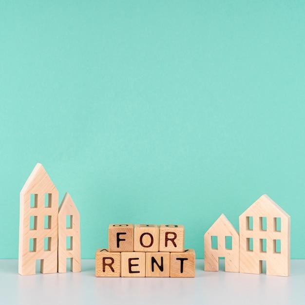 In affitto lettere su sfondo blu Foto Gratuite