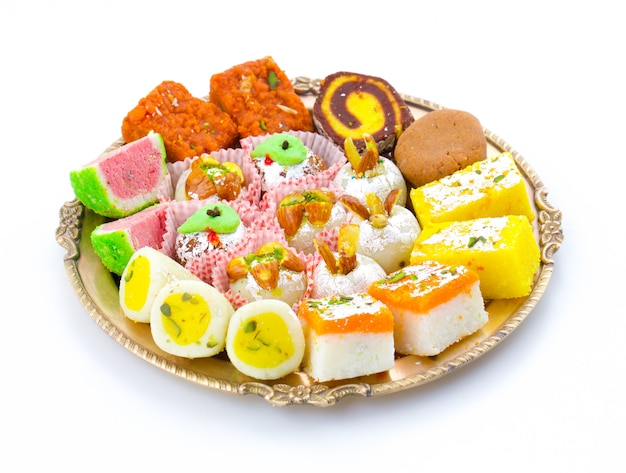 Indian traditional mix dolci Foto Premium