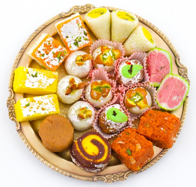 Indian traditional mix dolci Foto Premium