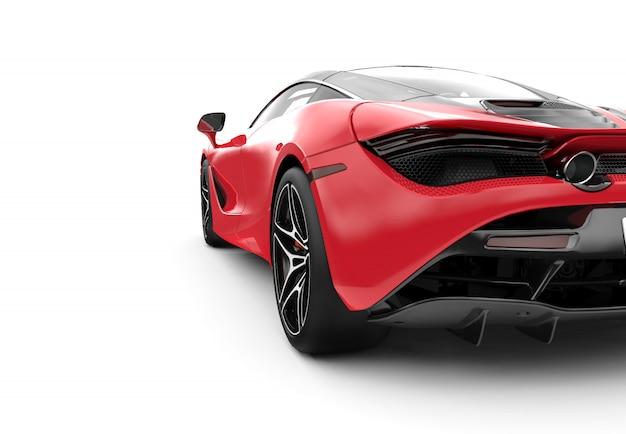Indietro di un'auto sportiva moderna rossa Foto Premium