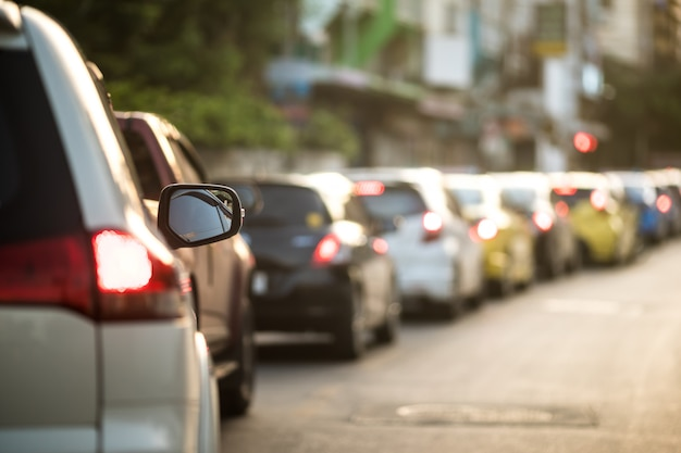 Ingorgo stradale a bangkok, tailandia. Foto Premium