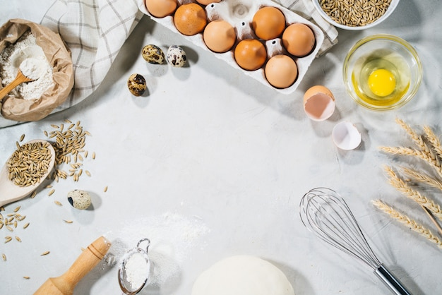 Ingredienti naturali per la cottura Foto Premium