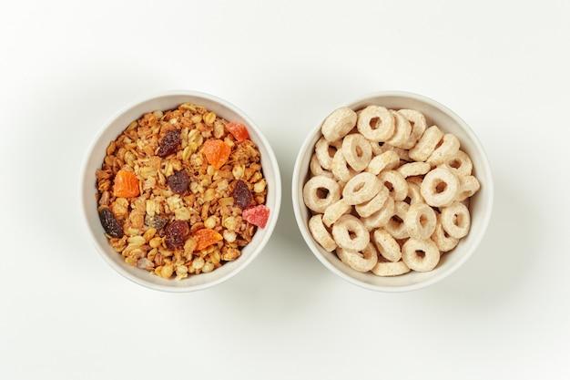 Ingredienti per la colazione dieta sana Foto Premium