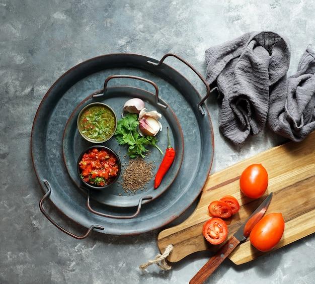 Ingredienti per salsa colombiana Foto Premium