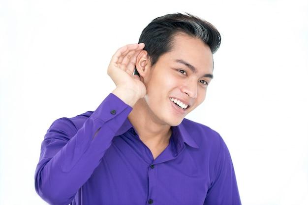 Intercettazioni interminabili dell'uomo asiatico Foto Gratuite