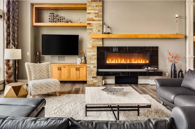 Interior design di lusso Foto Premium