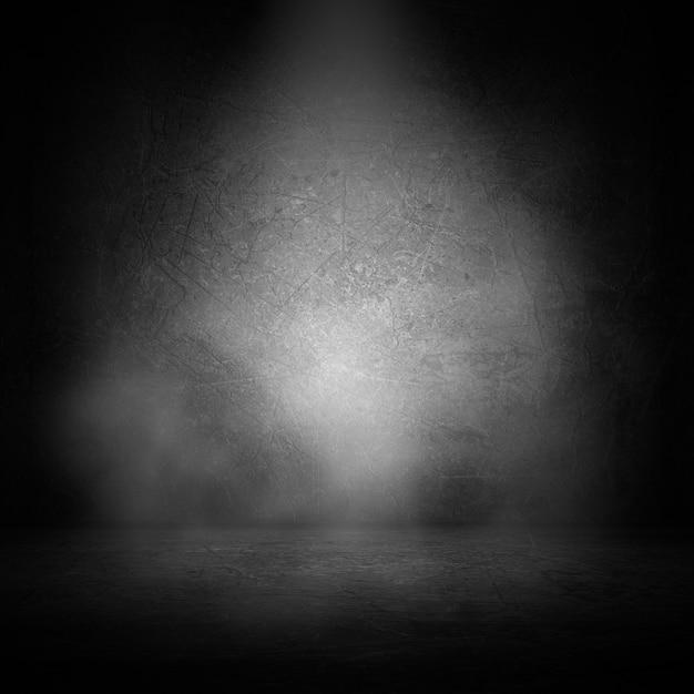 Interiore del grunge 3d con fumo sotto i riflettori Foto Gratuite