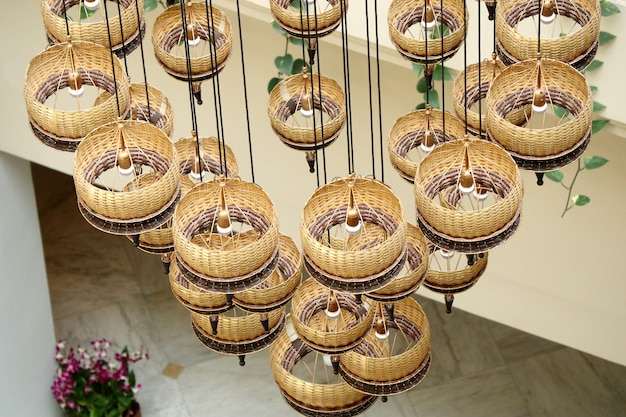 Interni di lampadari in hotel Foto Premium