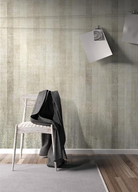 Interni moderni e luminosi con bellissime decorazioni Foto Premium