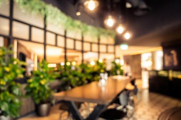Interno astratto del caffè della caffetteria della sfuocatura Foto Gratuite