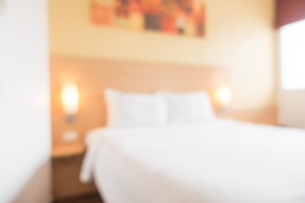 Interno astratto della camera da letto della sfuocatura Foto Gratuite