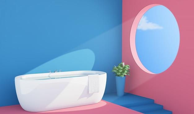 Interno bagno colorato Foto Premium