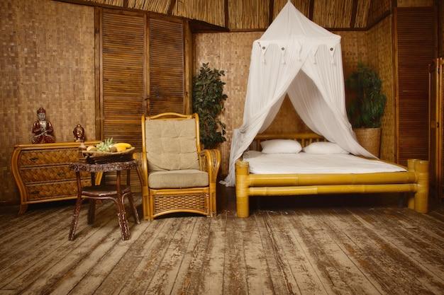 Interno camera da letto di lusso moderno Foto Premium