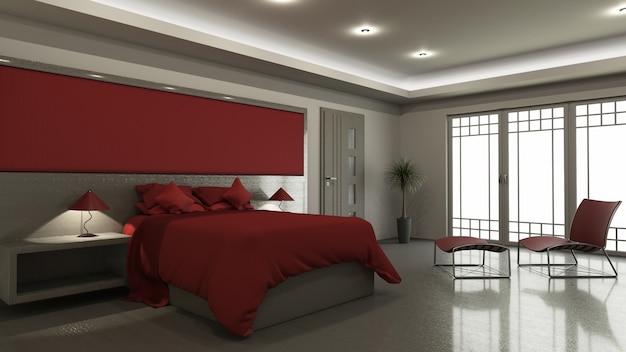 Interno moderno della camera da letto 3D | Scaricare foto gratis