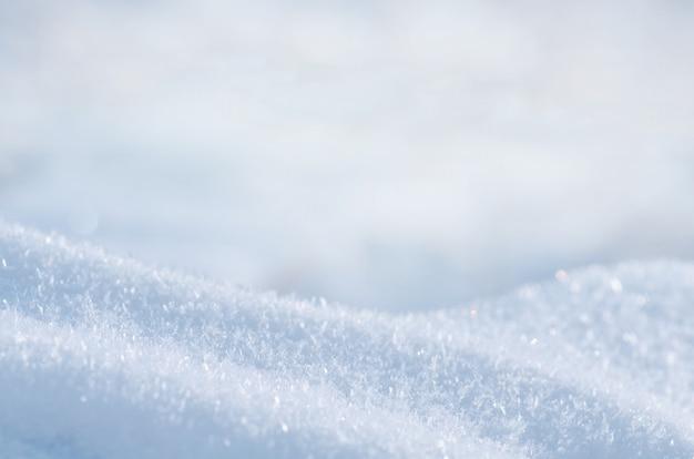 Inverno neve sullo sfondo Foto Premium
