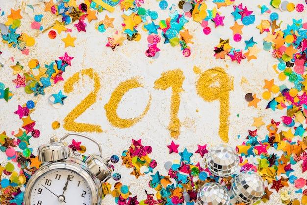 Iscrizione 2019 di paillettes con brillanti lustrini Foto Gratuite