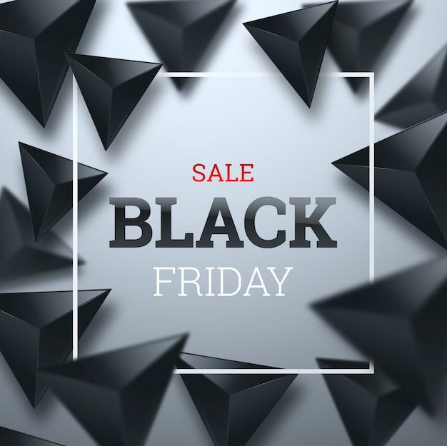 Iscrizione black friday su uno sfondo chiaro Foto Premium