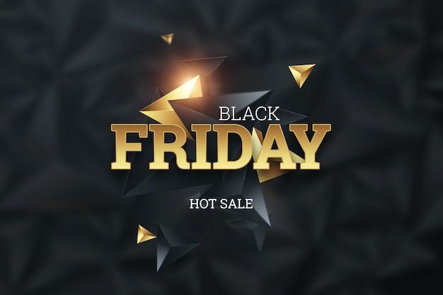 Iscrizione black friday su uno sfondo scuro, vendita calda Foto Premium