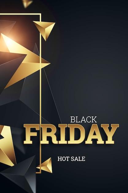 Iscrizione black friday su uno sfondo scuro Foto Premium