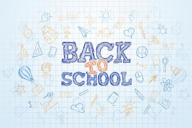 Iscrizione ritorno a scuola, elementi dell'educazione Foto Premium
