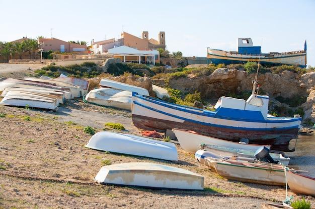 Isola di tabarca nella comunità valenciana di alicante Foto Premium