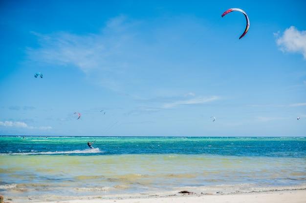 Kite surf su boracay Foto Premium