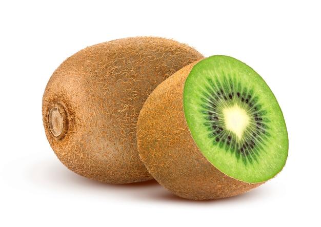 Kiwi isolato su bianco Foto Premium