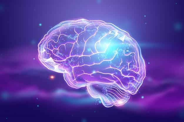 L'immagine del cervello umano Foto Premium