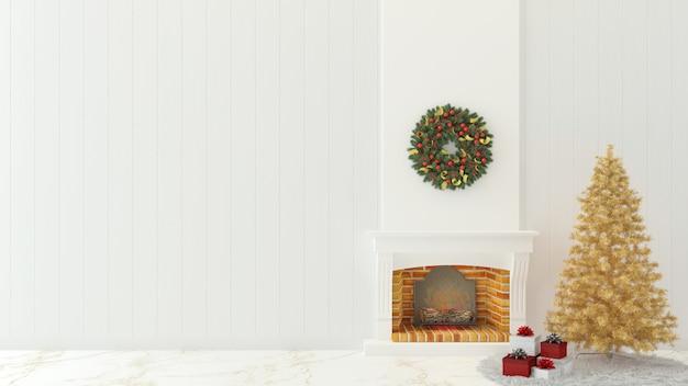 Alberi Di Natale In Legno Da Appendere : L interno di legno d della parete di natale rende l albero di