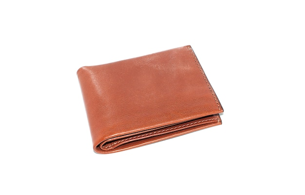 L'isolato tasca in pelle marrone con sfondo bianco Foto Gratuite