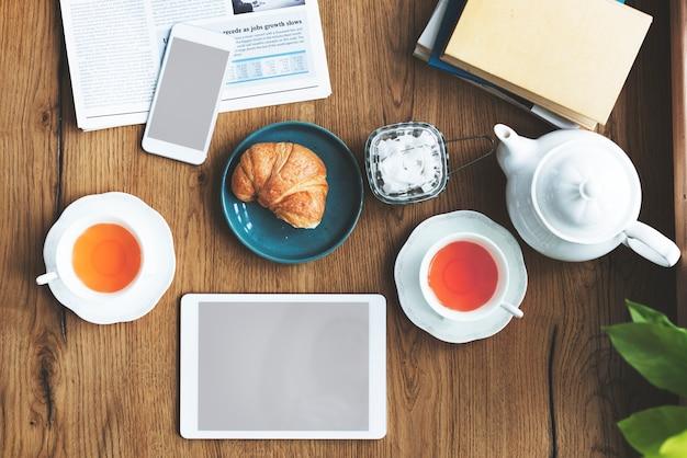 L'ora del tè a casa Foto Premium