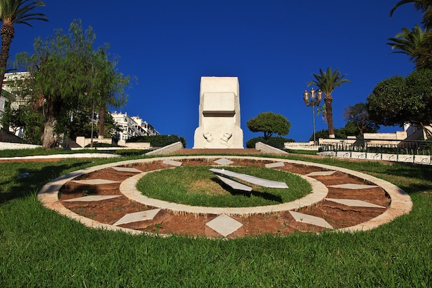 L'orologio del fiore nella città dell'algeria sul mar mediterraneo, algeria Foto Premium