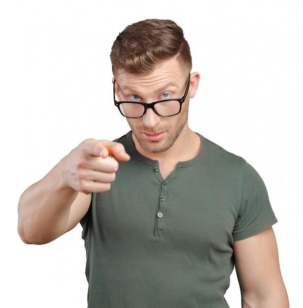 L'uomo d'affari ti sta indicando Foto Premium
