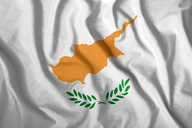 La bandiera di cipro Foto Premium