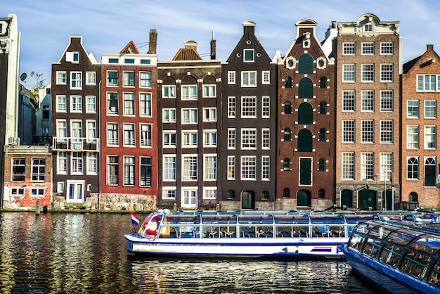 La città di amsterdam Foto Premium