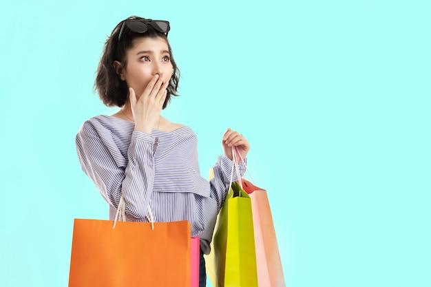 La donna asiatica è stata sorpresa Foto Premium