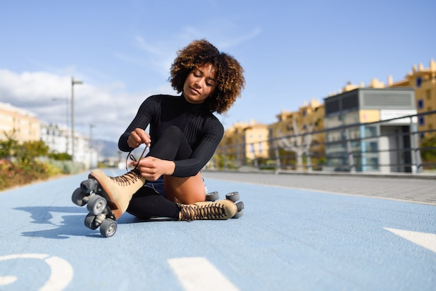 giovane ragazza nera foto