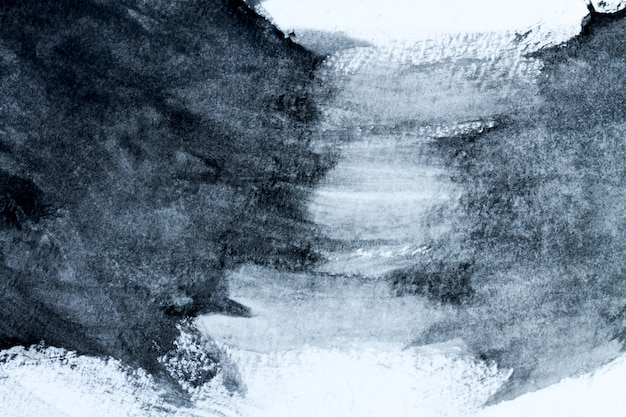 La luce in bianco e nero astratta dell'acquerello ha dipinto il fondo o la struttura. avvicinamento. Foto Premium