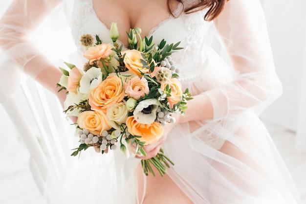 La mattina della sposa boudoir Foto Premium