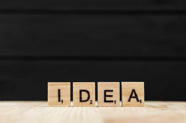 La parola idea scritta con lettere di legno Foto Gratuite