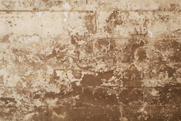 La struttura della cassaforma di legno ha timbrato su un muro di cemento del grunge come priorità bassa Foto Premium