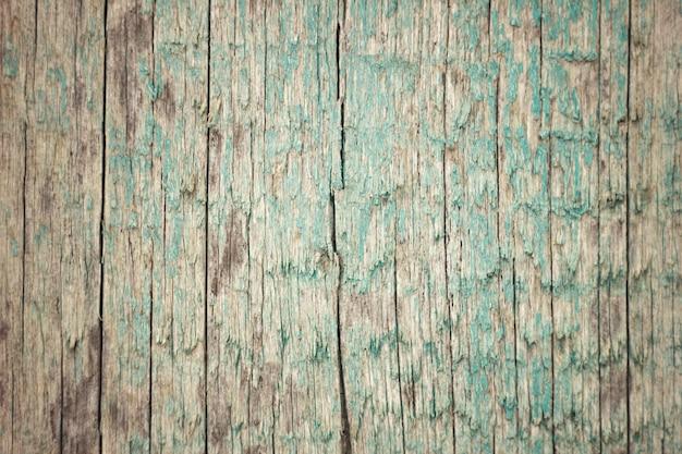 La trama del vecchio consiglio con peeling vernice blu Foto Premium