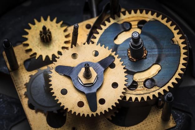 La vista macro del meccanismo dell'orologio Foto Gratuite