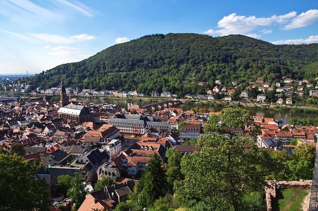 La vista su heidelberg, germania Foto Premium