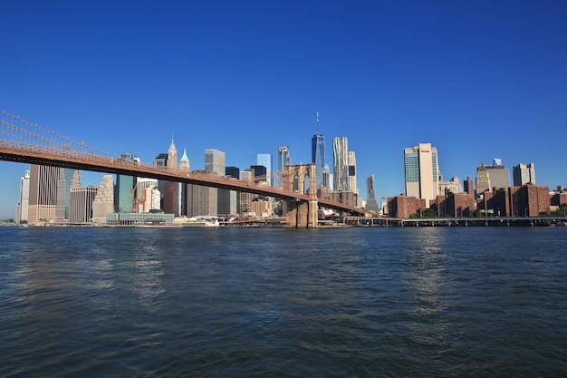 La vista sul centro, new york, stati uniti Foto Premium