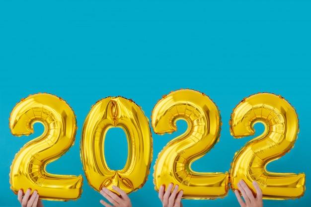 Lamina d'oro numero 2022 celebrazione Foto Premium