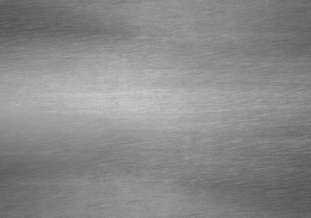 Lamina di metallo argento sfondo nero solido Foto Premium